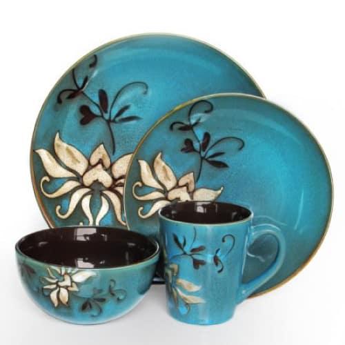 American Atelier Mirabel Blue Dinnerware Set