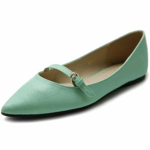 Ollio Ballet Pointed Toe Flat