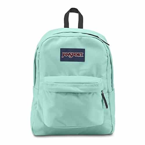 Jansport Superbreak Backpack in Mint | School supplies | Mint Green Outfits