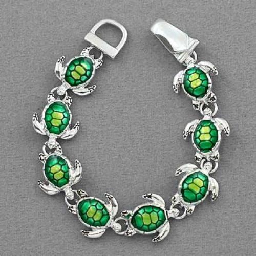 Green Turtle Charm Bracelet