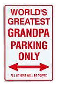 Grandpa Metal Parking Sign