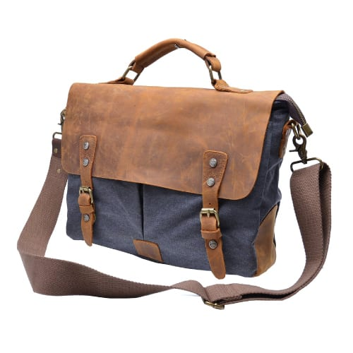 Otium Canvas Leather Leisure Business Bag