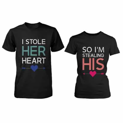 His and Her Matching T-Shirts for Couples