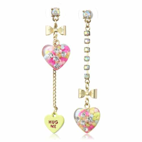 "Betsey Johnson ""Heart Candy Boost"" Earrings"