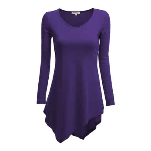Asymmetrical Flair Hem Line Tunic