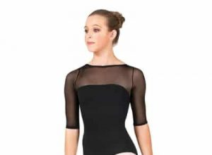 Natalie Dancewear Mesh Sleeve Leotard