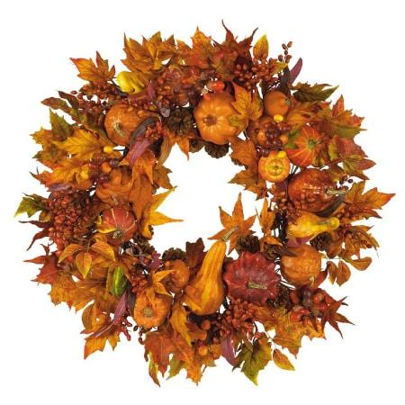 Gold Harvest Wreath