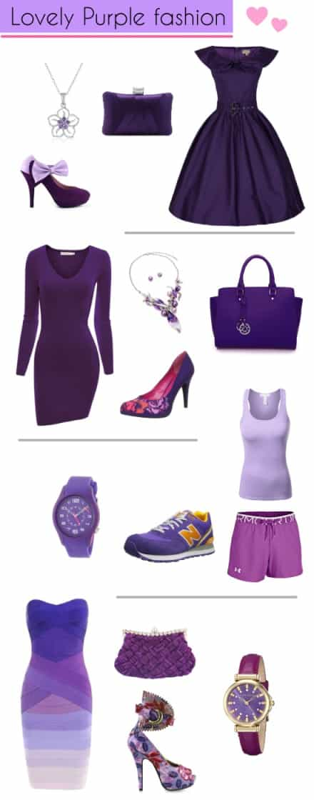 Purple Dress Fashion Style