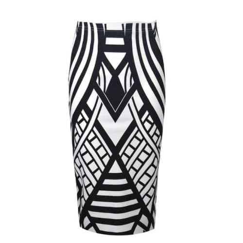 Vip Women's Monochrome Pencil Skirt
