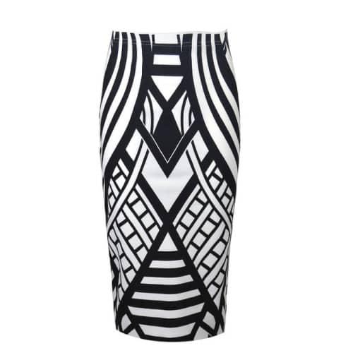 Vip Women's Monochrome Pencil Skirt