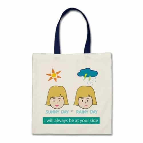 Sunny Day, Rainy Day Tote Bag