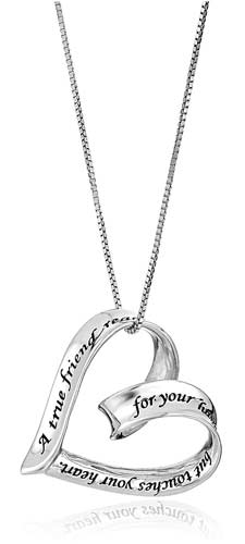 True Friend Heart Pendant Necklace