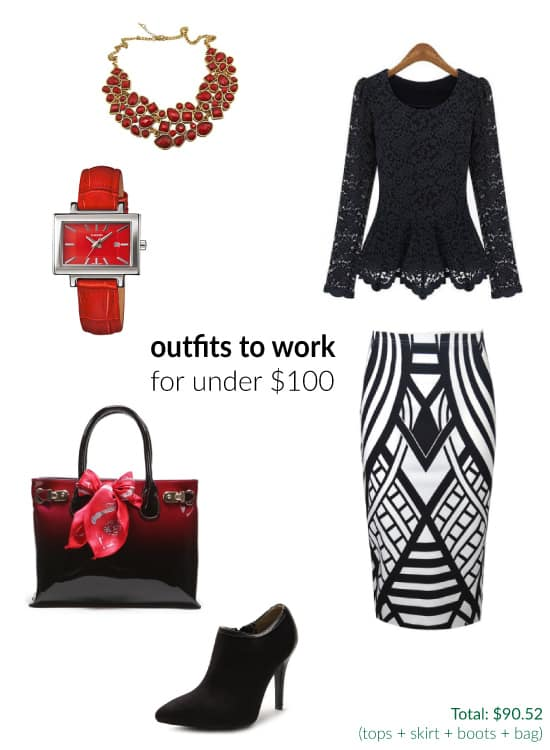 Stylish Work Outfits Under $100 (Fall 2014)