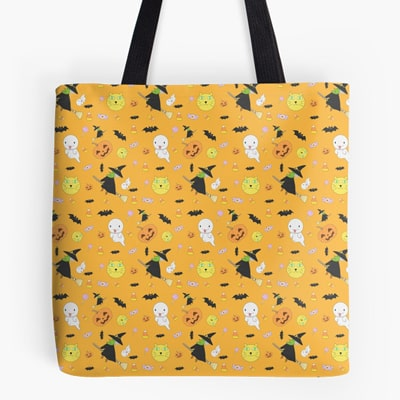 Halloween Pattern feat. Witch, Ghost, Pumpkin and More