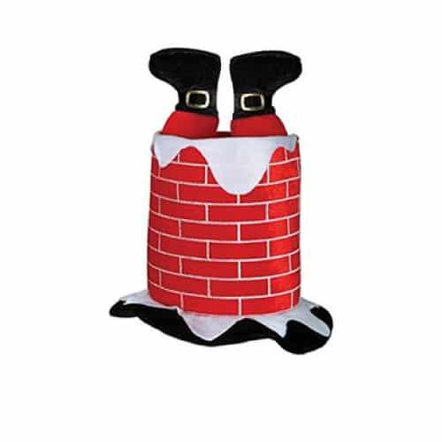 Santa Caught in Chimney Hat