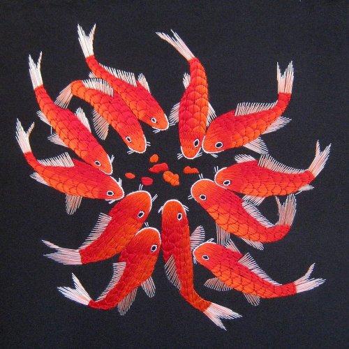 Embroidery Carp Wall Art