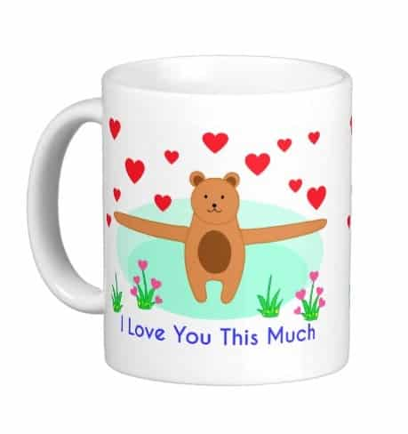 I Love You This Much Coffee Mug