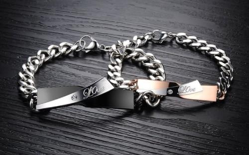 Simple Love Matching Bracelet Set