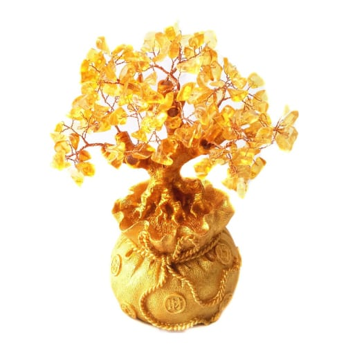 Golden Money Tree in Money Bag