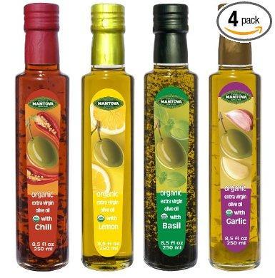Mantova Organic Infused Extra Virgin Olive Oil (Pack of 4)