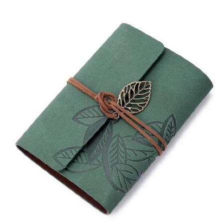 Vintage Dark Green Leather Cover Journal