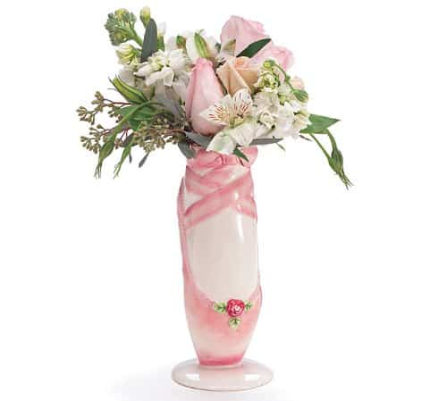 first dance recital gift ideas - Ballet Shoe Vase