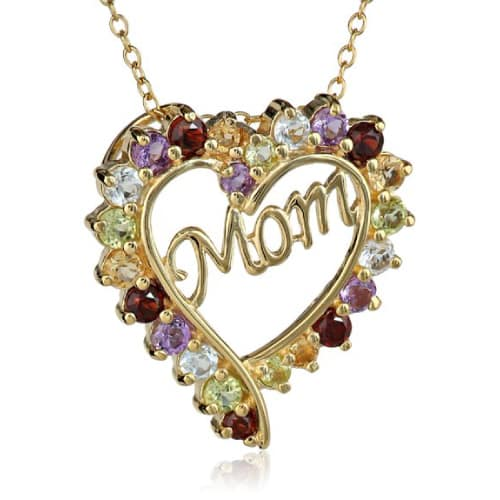 Mom Heart Pendant Necklace