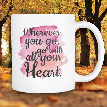 high school graduation gift ideas for her - inspirational Confucius quote mug