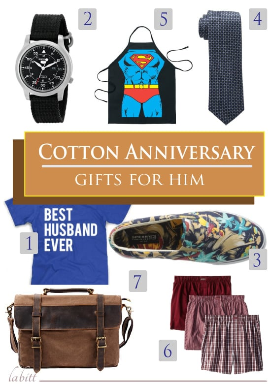 Cotton Anniversary Gifts for Him