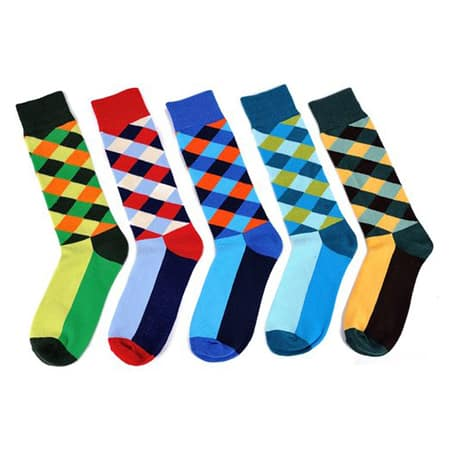 Stylish and colorful socks