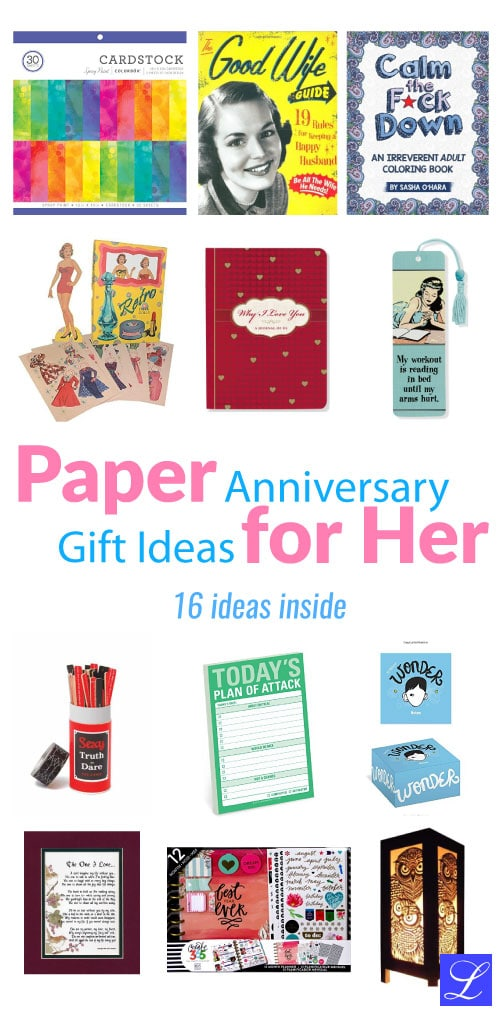 Check out these lovely Paper (first) wedding anniversary gift ideas for her