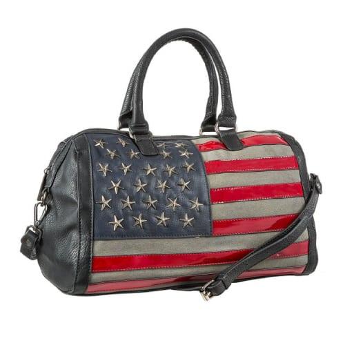 American Flag Hobo Duffel Bag