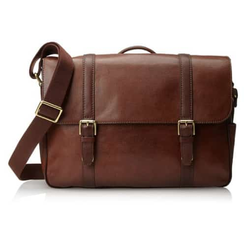 Fossil Estate Saffiano Leather Messenger Bag