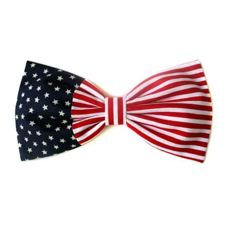Patriotic American Flag Hair Bow