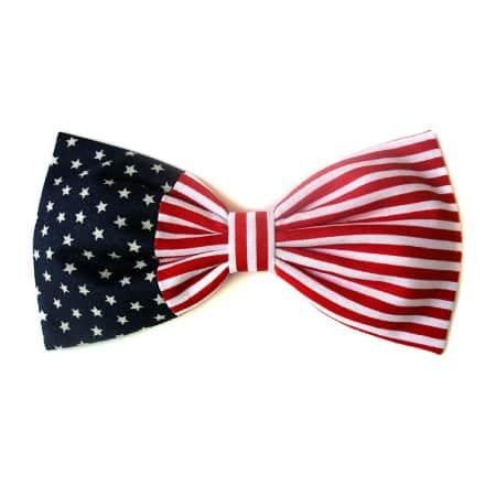 Patriotic American Flag Hair Bow