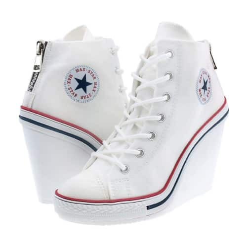 Maxstar Canvas Wedge Sneakers