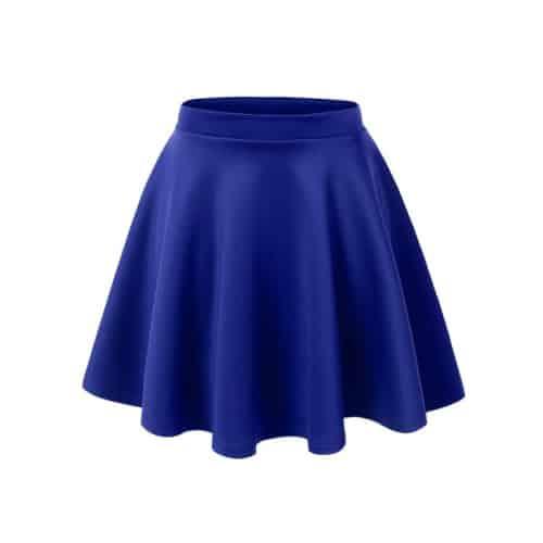 LE3NO Womens Basic Flared Skater Skirt
