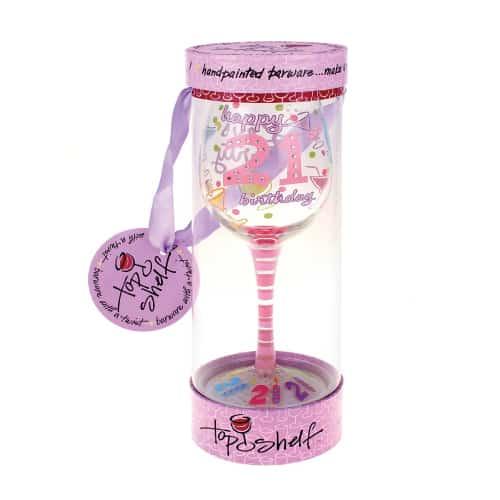Happy 21st Birthday Wine Glass
