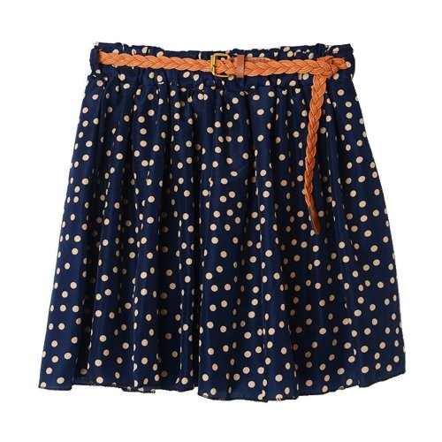 Dotted Pleated Skirt