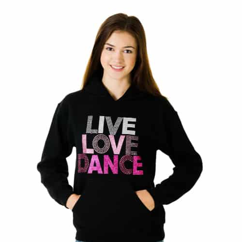 Live Love Dance Black Hoodie
