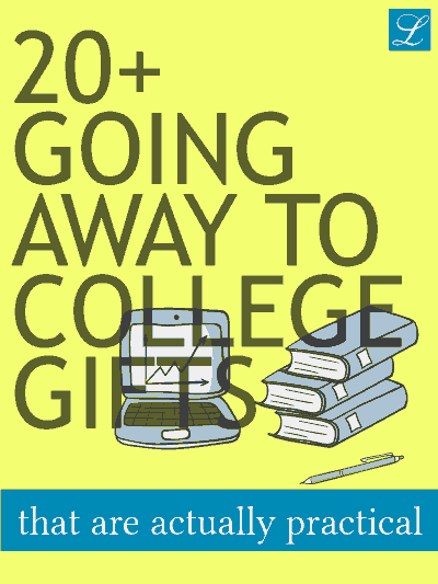 Going Away to College Farewell Gift Ideas for Girls, Boys, Son, Daughter, Friend.