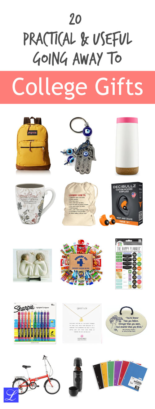 Going Away to College Farewell Gift Ideas for Girls and Boys