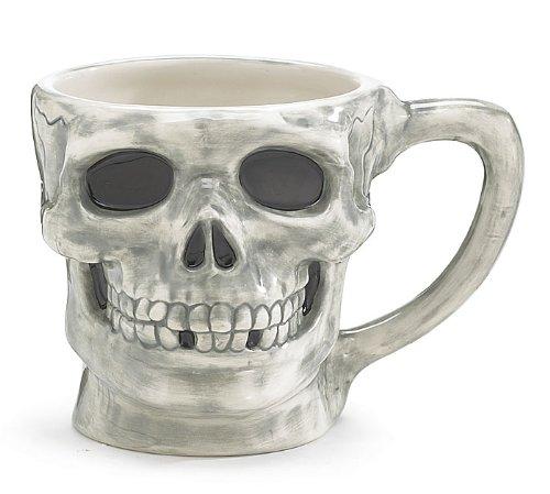 Large Skeleton Skull Mug