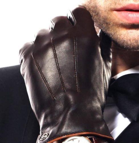 Luxury Italian Leather Touchscreen Gloves