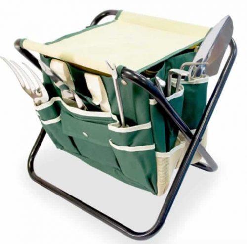 Gardening Kit With Foldable Stool