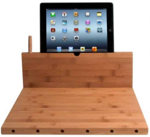 Cutting Board With Tablet Storage