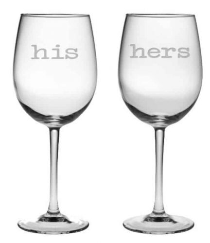 His-Hers Wine Glasses