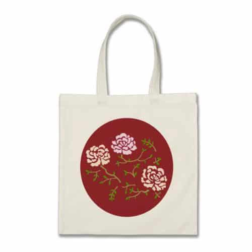 Red Peony Bag