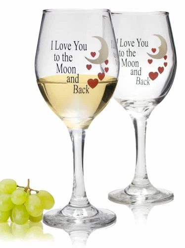 Love Quotes Wine Glass Set