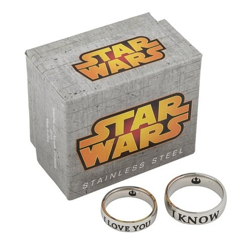 Star Wars I Love You and I Know Couple Ring Set